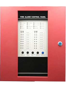 16 Zones fire alarm panel